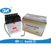White 12v Dry Cell Motorcycle Battery , Three Wheel Motorcycle Dry Battery