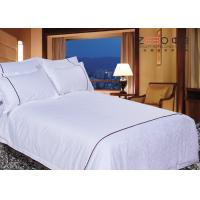 Buy cheap Single / Double Bed Linen Sets With 115GSM 250TC And 50% Cotton product