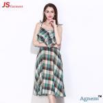 Buy cheap 89D17256 2018 New Printed Cotton Sleeveless High Waist Women Midi Dress product