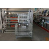 Buy cheap Folded Rolling Metal Steel Storage Cages For Warehouse / Workshops product