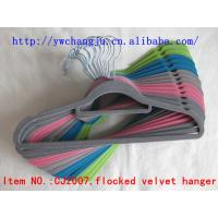 China flocked hanger yiwu stocklot wholesale supplier over stock surplus manufacturer joblot closeout overproduction on sale