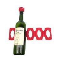 Buy cheap Perfect Fridge Storage Small Wine Rack , 306*95mm Silicone Wine Bottle Holder product