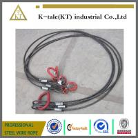 Buy cheap Heavy trailer towing cable black steel wire rope sling /rigging product