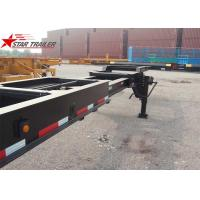 Buy cheap 8 Tires Black Color 20 Ft Skeletal Trailers Goosneck Container Semi Trailer from wholesalers
