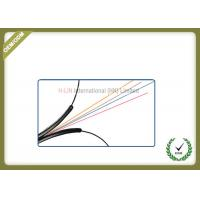 Buy cheap Indoor 4 core Fiber Optic Drop Cable for fiber to the home use black LSZH jacket product