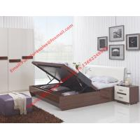 Buy cheap Storage bed box with oil bar support in dark oliver painting and white headboard furniture product