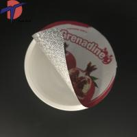 Buy cheap China Factory Die out aluminium foil lids, Die cut foil seals for PP/PS/PE cups from wholesalers