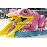China Colorful Small Frog Water Slide / Kids' Water Slides Safety for Aqua Park Playground Equipment wholesale