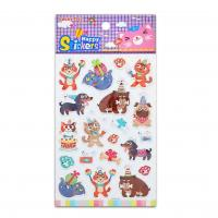 Buy cheap Embossed Cats And Dogs Hot Stamp Animal Fun Stickers Party Celebrate Pop Cute Paper Stickers product