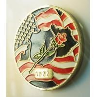 Personalize American Flag Challenge Coins , Metal Military Commemorative Coins