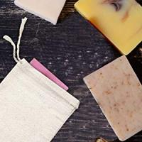 Canvas Cotton Muslin Drawstring Bags for Soap Packaging