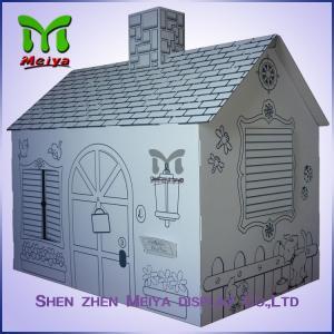 Printing cardboard kids toys cat dog house playhouse wholesale