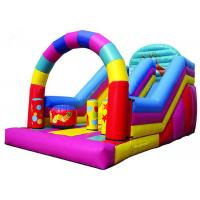 Colorful Big Party Teens Arch Large Inflatable Slide Digital Printing Fireproof