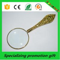 Buy cheap Customized Promotional Stationery Metal Handheld Magnifier 5x product