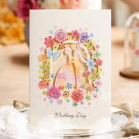 Buy cheap Elegant White Colorful Cute Flowers Wedding Invitations Cards with Envelopes and Seals, 2015 New! product