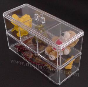 Buy cheap Caja de almacenamiento plástica con dos estantes product