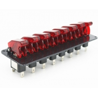 Buy cheap 12V Racing Car Ignition Start Switch 8 Red LED Toggle Button Panel Exquisite product