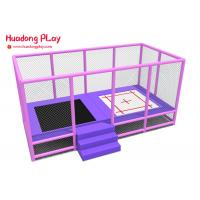 Buy cheap 15sqm Commercial Trampoline Equipment Customized Color Safe Warm Design product