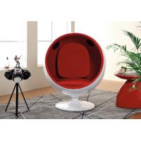 Buy cheap Red Fabric Upholstered Modern Swivel Chair Ball Shaped For Children from wholesalers