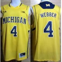 Buy cheap Michigan Wolverines 4 Chirs Webber Big 10 Patch Yellow NCAA Basketball Jerseys product