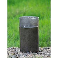 China Cylinder Shaped Cast Stone Garden Fountains / Large Outdoor Fountains  wholesale