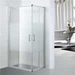 China Stripe Pattern Bathroom Shower Enclosure adjustment 25mm for each side wholesale
