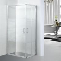 Buy cheap Stripe Pattern Bathroom Shower Enclosures Adjustment 25mm For Each Side product