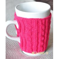 China Red knitted mug cosy fashion style on sale