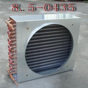 Condensador refrescado aire evaporativo del cambiador de calor del aire acondicionado del tubo de aleta con el tubo de cobre