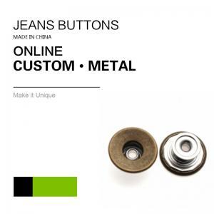 Buy cheap Antique Brass Custom Jeans Metal Button Denim Clothing Bulk Trims product