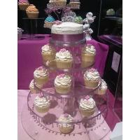 Buy cheap 4-Tiers Square Acrylic Cupcake Display product