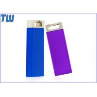 Buy cheap Metal Slim Cuboid 16GB USB Flash Drive Electroplating Color Key Ring Attached product