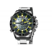 Buy cheap Weide Big Case Mens Military Watches With LCD Digital / Analog product