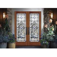 Buy cheap Durability Sliding Glass Doors Theft Proof Decorative Panel Glass Brass / Nickel / Patina product