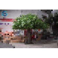 Eco Friendly Artificial Ficus Tree Wooden Trunk For Airport / Restaurant