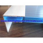 Buy cheap Aluminium F profile, aluminium profiles, pc sheet profiles, polycarbonate sheet  accessories product