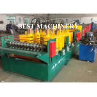 China Quick Change Size Ladder Type Cable Tray Forming Machine Punching Holes on sale