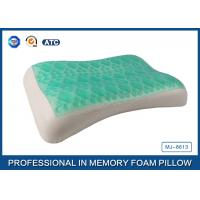 China Wave Contour Shape Cooling Gel Memory Foam Pillow For Adults Good Sleep wholesale