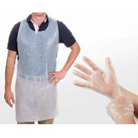 Safety Disposable Medical Aprons , Disposable Kitchen Aprons 17 Mic Thickness