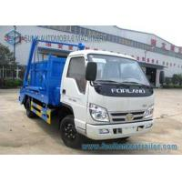 China Foton 2000kgs - 4000kgs Garbage Container Truck 4x2 Small Swing Arm on sale