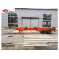 Buy cheap Port Transportation 20ft Container Trailer With Steel Leaf Spring Suspension from wholesalers
