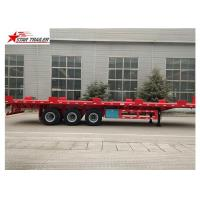 Buy cheap 24/32/48/53/50 Foot Semi Truck Flatbed Trailer With Leaf Spring Suspension product