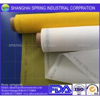Buy cheap 77T High Stability Monofilament Polyester Screen Mesh , White Mesh Roll Anti - Friction product