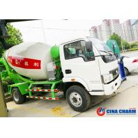 Buy cheap Truck Mounted Transit Mixer Truck , Mobile Low Angle Small Cement Mixer Truck product