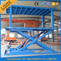 Buy cheap Indoor / Outdoor Double Car Parking Hydraulic Platform Lift 1 ton - 20 ton Load Capacity Custom product