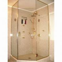 Buy cheap 10/12mm Tempered Glass for Shower Screens and Doors, Meets GB/T9963-1998 Tempered Glass Standards product