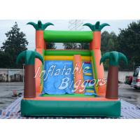 Buy cheap Residential EN71 Inflatable Pool Water Slide Green Jungle With Sprayers , Durable Vinyl product