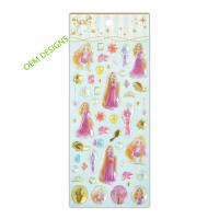 Buy cheap OEM Disney Cartoon Alice Girls Epoxy Stickers With Gold Foil 3D Handmade Crystal from wholesalers
