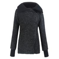 China High Collar ladies fall jackets / womens winter Wool coats and jackets on sale