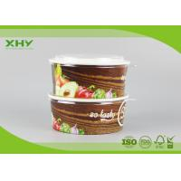 Buy cheap Take Away Flexo Printed Logo 32oz Paper Salad Bowls Containers FSC Certificated product